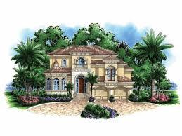 caribbean home plans eplans mediterranean modern house plan narrow lot mediterranean