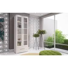 manhattan comfort serra 1 0 white 5 shelf bookcase free shipping