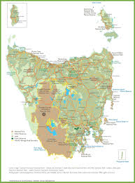 map of tasmania australia tasmania national parks and reserves map