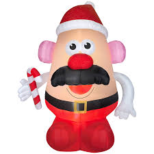 shop gemmy 8 98 ft x 4 4291 ft lighted mr potato head christmas