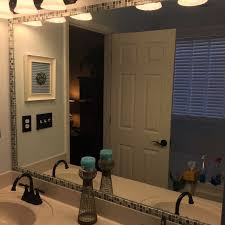 bathroom mirror trim ideas how to frame a bathroom mirror with mosaic tile hometalk
