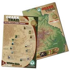 Paper Maps The Ozark Trail Purchase Ozark Trail Maps