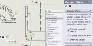 solidworks convert view to sketch sfworks