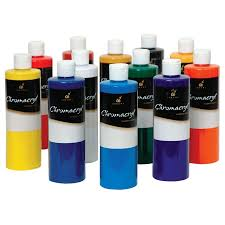 chromacryl 12 pint set contains 1x500ml of cool blue cool yellow