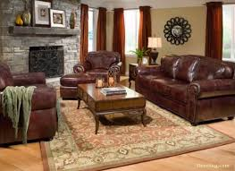 modern living room ideas with brown leather sofa furniture elegant brown leather havertys sofa on wooden floor