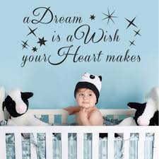 aliexpress com buy a dream is a wish your heart makes cinderella aliexpress com buy a dream is a wish your heart makes cinderella quote vinyl wall decal quote nursery decal vinyl wall sticker 43cm x 86cm from reliable