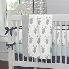 Deer Mobile For Crib Silver Gray Deer Head Crib Bedding Carousel Designs