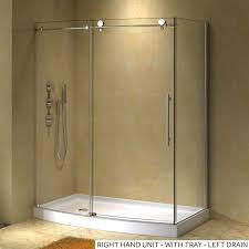30 Shower Door 58 X 30 Sloan Corner Shower Enclosure With Arched Front Bathroom