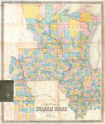 Maps Wisconsin by File 1857 Chapman Pocket Map Of The North West Illinois