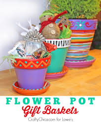 flower pot gift baskets paint flowers housewarming gifts and flower