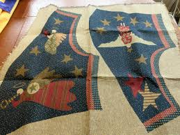 vintage cotton tapestry material for angel christmas vest by