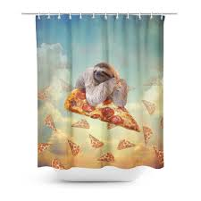 Shower Curtains Sloth Pizza Shower Curtain Shelfies