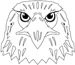 colouring pages animal eagle free printable for preschool 7649