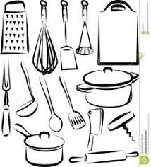 coloriage ustensiles de cuisine dessin ustensiles de cuisine artistique symbole de cuisson dessin