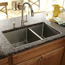 schon double bowl 17 x 30 kitchen sinkfaucet for d shaped sink kohler