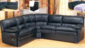 Black Leather Sectional Sofa Recliner Black Leather Couches Brokenshaker