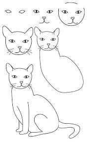 imágenes de gatos fáciles para dibujar como dibujar gatos faciles en papel bond dibujos de gatos