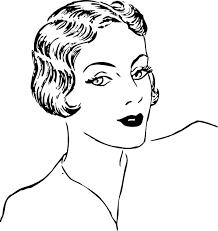 drawing of bob hair woman bob haircut clip art free vector in open office drawing svg