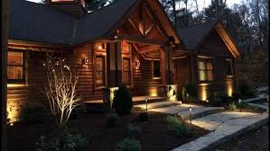 log cabin outdoor lighting perfect lighting for your outdoor space landworx of ny landscape