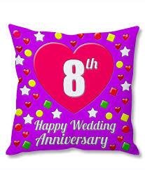 8th wedding anniversary photogiftsindia 8th wedding anniversary cushion cover buy online at