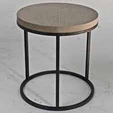 Small Round Pedestal Side Table Round Black Oak Top Side Table Omero Home