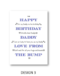 personalised card from the bump personalized card from baby