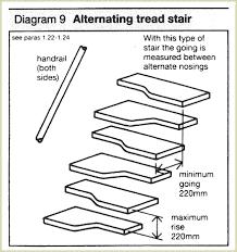 fancy alternate tread stairs design alternating tread stair saves