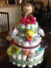 diaper cake for unknown gender twins easy peezy diy pinterest