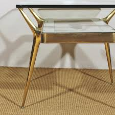 coffee table italian glass brass coffee table 1950s for sale at