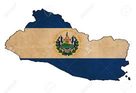 Flag El Salvador El Salvador Map On El Salvador Flag Drawing Grunge And Retro