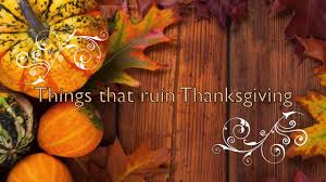 poprock presents things that ruin thanksgiving