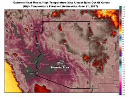 National Temperature Map Arizona So Weather Map Almost Runs Out Of Colors Mlive Com