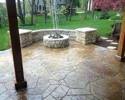 fire pit wood deck concrete patio under deck ideas stamped concrete deck ideas