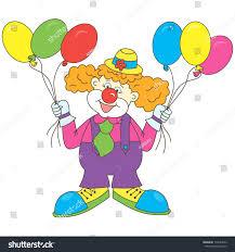 clown baloons clown balloons clown balloons stock illustration