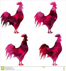 polygonal illustration of rooster head stock vector image 67559246