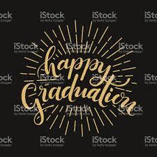 Invitation Card Graduation Happy Graduation Hand Drawn Lettering For Greeting Invitation Card