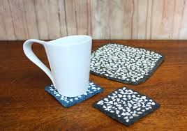 recycled paper pulp coasters with eggshells art and recycling