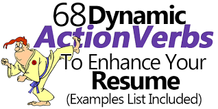 Powerful Action Verbs For A by 68 Dynamic Action Verbs To Enhance Your Resume Examples List