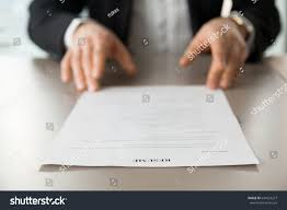 Resume Job by Resume Document Guys Hands Background Recruitment Stock Photo