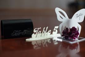 Laser Cut Table Numbers Wedding Finds Laser Cut Table Numbers