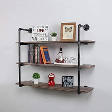 what of wood is best for shelves mbqq industrial pipe shelves with wood 3 tiers rustic wall mount shelf 44 metal hung bracket bookshelf diy storage shelving floating shelves
