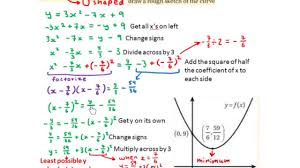 lc hl sketch quadratic graph using completing the square to find