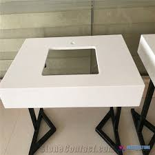 Stone Bathroom Vanities Eased Edge Countertop Quartz Stone Bathroom Vanity Tops From China