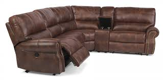 Leather Sofa With Studs by Sectional Couches And Sofas Flexsteel Sectionals