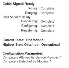 Modem Ds Light Blinking Am I Online Cable Modem Thomson Dcm476 Led Light Display