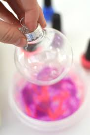 make marbled ornaments meri cherry