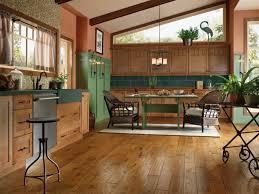 Chestnut Kitchen Cabinets Wood Floors In Kitchen With Wood Cabinets Wood Flooring