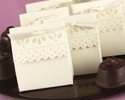 Favor Boxes by Ivory Scalloped Edge Favor Boxes Set Of 25
