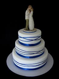 willow tree cake toppers royal blue wrapped ribbon wedding cake with willow tree p flickr