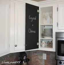 what of paint to use inside kitchen cabinets livelovediy the chalkboard paint kitchen cabinet makeover
